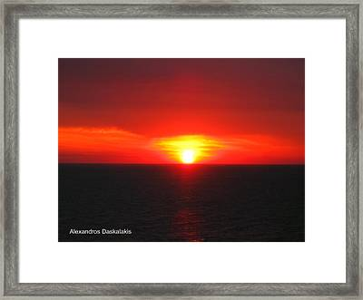 Amazing Sunset Framed Print by Alexandros Daskalakis