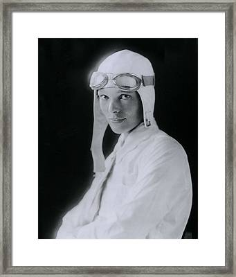 Amelia Earhart Framed Print by Retro Images Archive