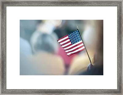 American Flag Framed Print by Alex Grichenko