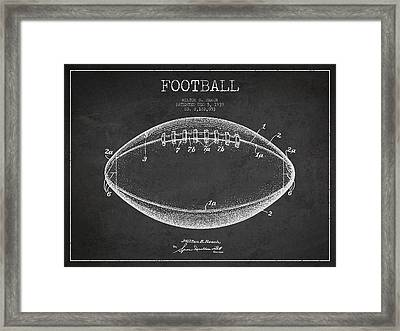 American Football Patent Drawing From 1939 Framed Print by Aged Pixel