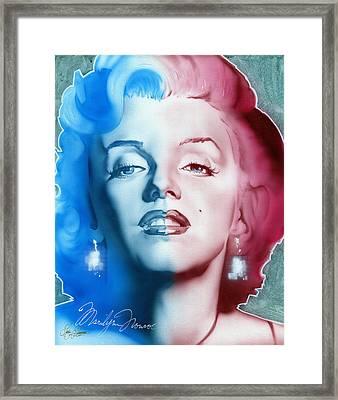 American Girl Framed Print by Luis  Navarro