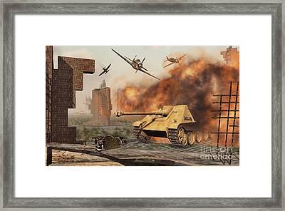 American P-47 Fighter Planes Attacking Framed Print by Mark Stevenson