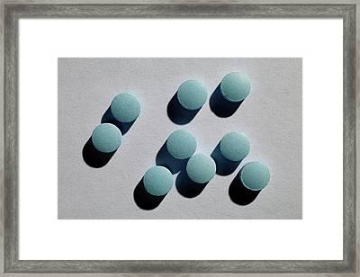 Amitriptyline Antidepressant Drug Framed Print by Victor De Schwanberg