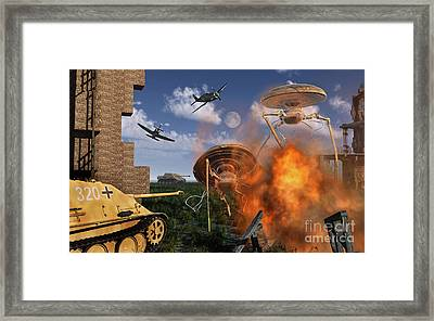 An Alternate Reality Where Allied Framed Print by Mark Stevenson