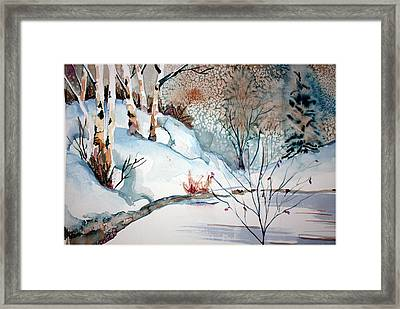 An Icy Winter Framed Print by Mindy Newman
