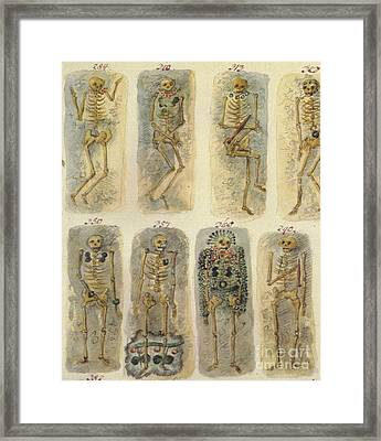 Ancient Celtic Cemetery, Hallstatt Framed Print by Science Source