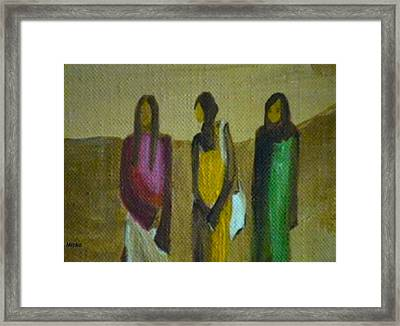 And She Said... Framed Print by Mirko Gallery