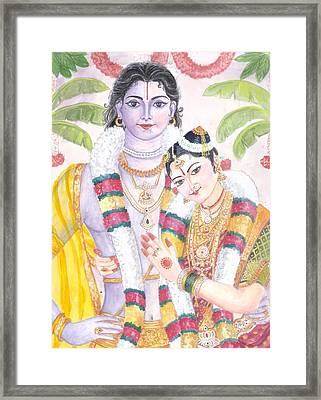 Andal Krishna Framed Print by Parimala Devi Namasivayam