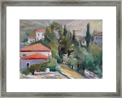 Andros Framed Print by George Siaba