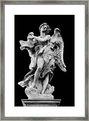 Angel With The Superscription Framed Print by Fabrizio Troiani