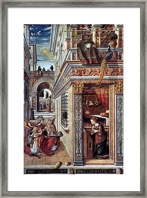 Annunciation Framed Print by Granger