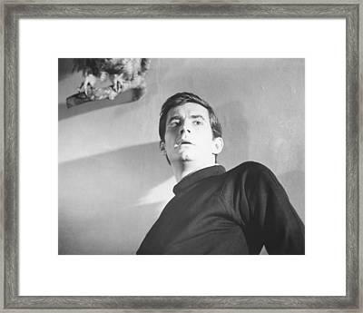 Anthony Perkins Framed Print by Silver Screen