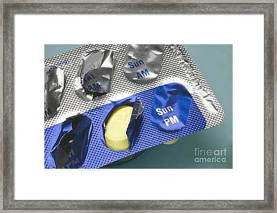 Antibiotic Pills Framed Print by Sheila Terry