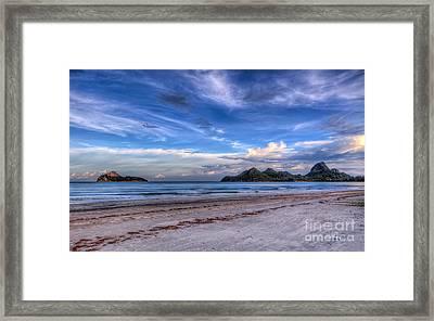 Ao Manao Bay Framed Print by Adrian Evans