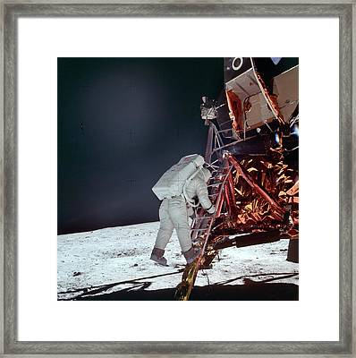 Apollo 11 Moon Landing Framed Print by Image Science And Analysis Laboratory, Nasa-johnson Space Center
