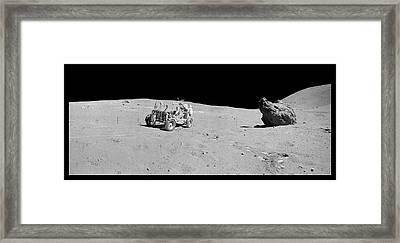 Apollo 16 Lunar Rover Framed Print by Nasa/detlev Van Ravenswaay