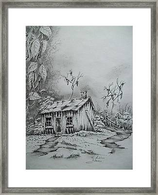 Appalachian Old Shed Framed Print by Tom Rechsteiner