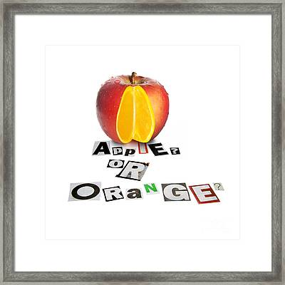 Apple Or Orange Framed Print by Jorgo Photography - Wall Art Gallery