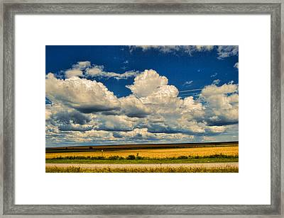 Approaching Storm Framed Print by Paulette B Wright
