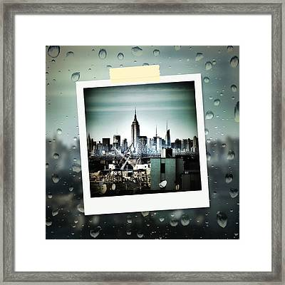 April In Nyc Framed Print by Natasha Marco