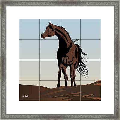 Arabic Horse Framed Print by Roby Marelly