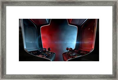 Arcade Machine Opposing Duel Framed Print by Allan Swart