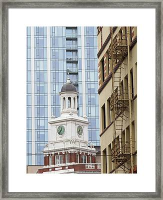 Architecture Of Portland, Oregon Framed Print by William Sutton