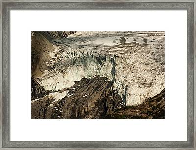 Argentiere Glacier Framed Print by Duncan Shaw