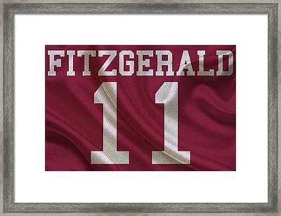 Arizona Cardinals Larry Fitzgerald Framed Print by Joe Hamilton