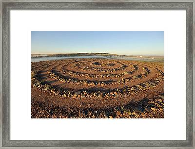 Arkaim Archaeological Site, Russia Framed Print by Science Photo Library