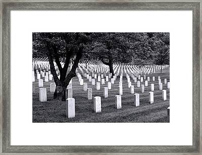 Arlington National Cemetery Framed Print by Allen Beatty