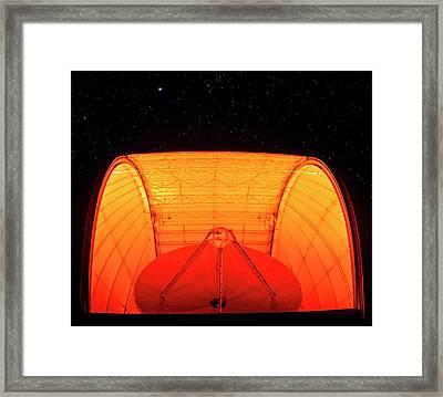 Aro Telescope Framed Print by Babak Tafreshi