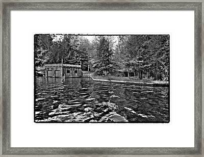 Arrowhead Park Waterway In Inlet New York Framed Print by David Patterson