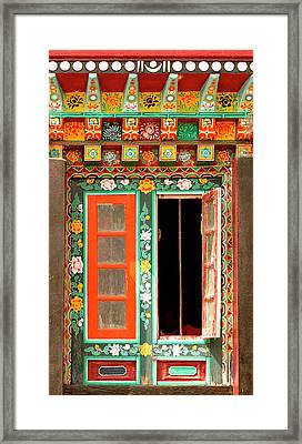 Art In Buddhist Monastery Architecture Framed Print by Jaina Mishra