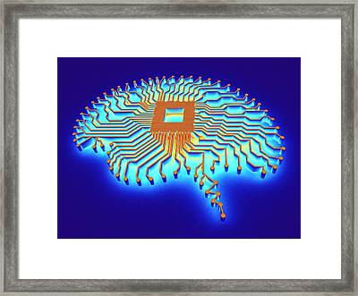 Artificial Intelligence Framed Print by Alfred Pasieka