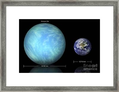 Artists Depiction Of The Difference Framed Print by Marc Ward