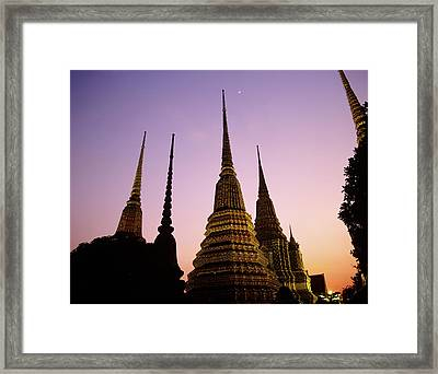 Asia, Thailand, Bangkok, Temple Wat Pho Framed Print by Tips Images