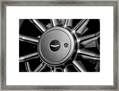 Aston Martin Db7 Wheel Emblem Framed Print by Jill Reger