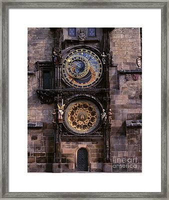 Astronomical Clock Prague Framed Print by Rafael Macia