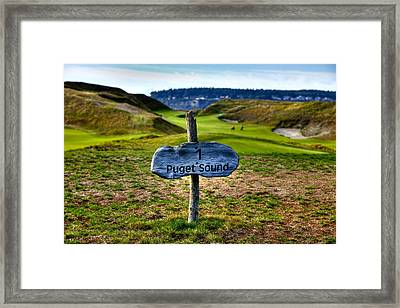 #1 At Chambers Bay Golf Course - 2015 U.s. Open Framed Print by David Patterson