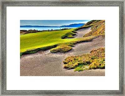 #1 At Chambers Bay Golf Course Framed Print by David Patterson