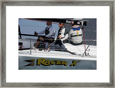 At The Helm Framed Print by Steven Lapkin