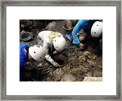 Atapuerca Fossil Excavation Framed Print by Javier Trueba/msf