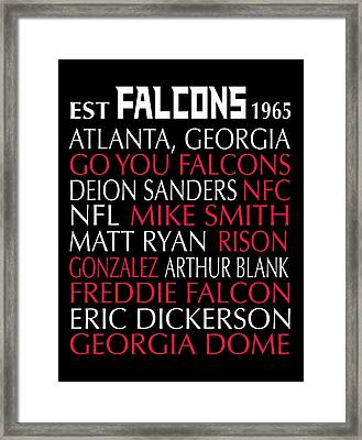 Atlanta Falcons Framed Print by Jaime Friedman