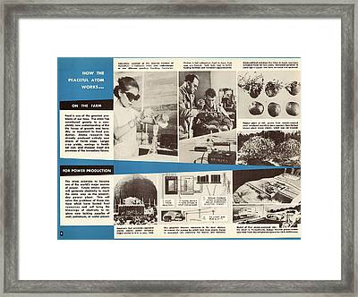 Atoms For Peace Programme Framed Print by Us National Archives
