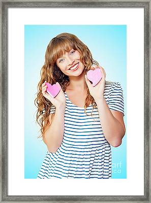 Attractive Young Teenage Girl In Love Framed Print by Jorgo Photography - Wall Art Gallery