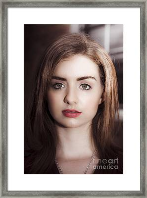 Attractive Young Woman Framed Print by Jorgo Photography - Wall Art Gallery
