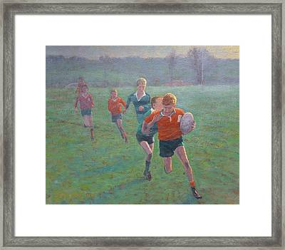 Auckland Rugby Framed Print by Terry Perham