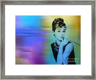 Audrey Hepburn Art Framed Print by Marvin Blaine