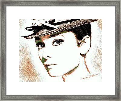 Audrey Hepburn Framed Print by Dan Sproul